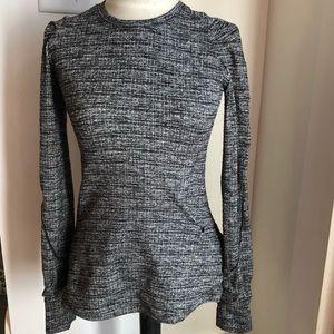 Lululemon tweed look pullover top